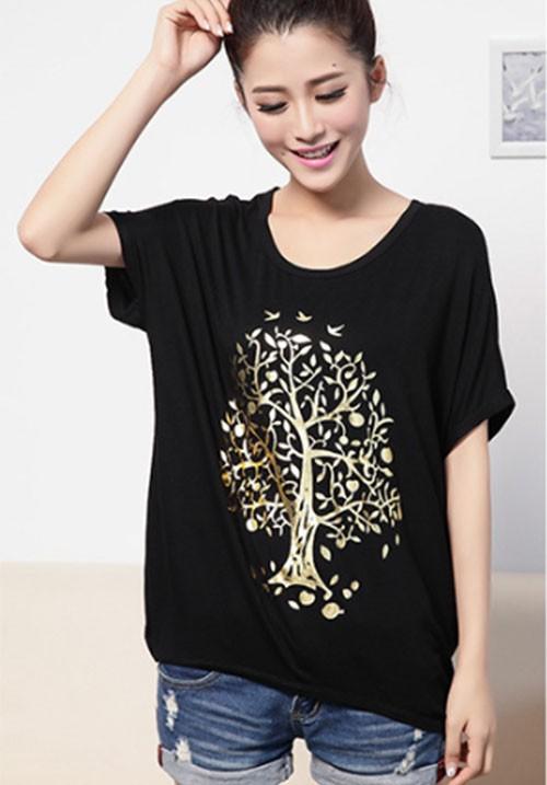 Golden Tree Black Tee