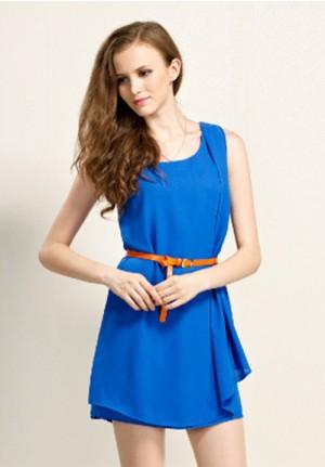 European Style Drape Dress