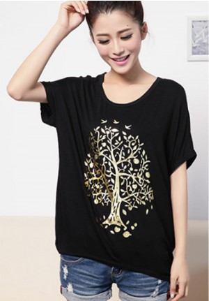 Golden Tree Black Tee