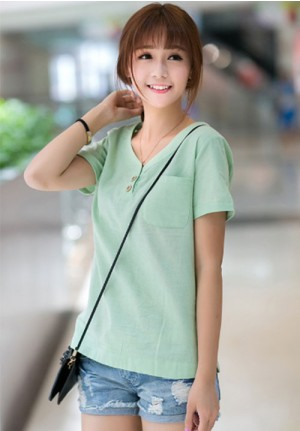 Two Button Casual Tee